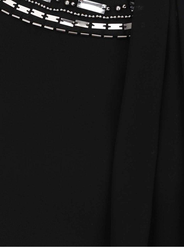Černé šaty s aplikací v dekoltu Billie & Blossom