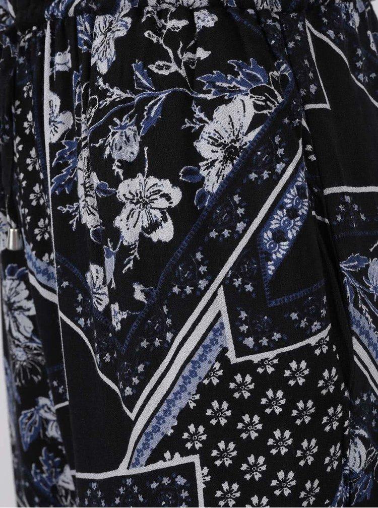 Černý květovaný overal s tenkými ramínky Dorothy Perkins