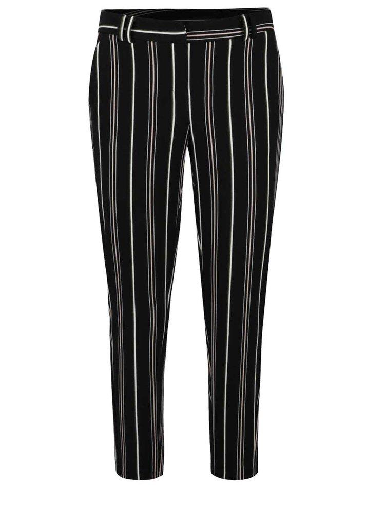 Pantaloni conici negri Dorothy Perkins cu model în dungi