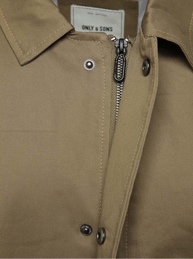 Béžový dlouhý kabát Only & Sons Neuer