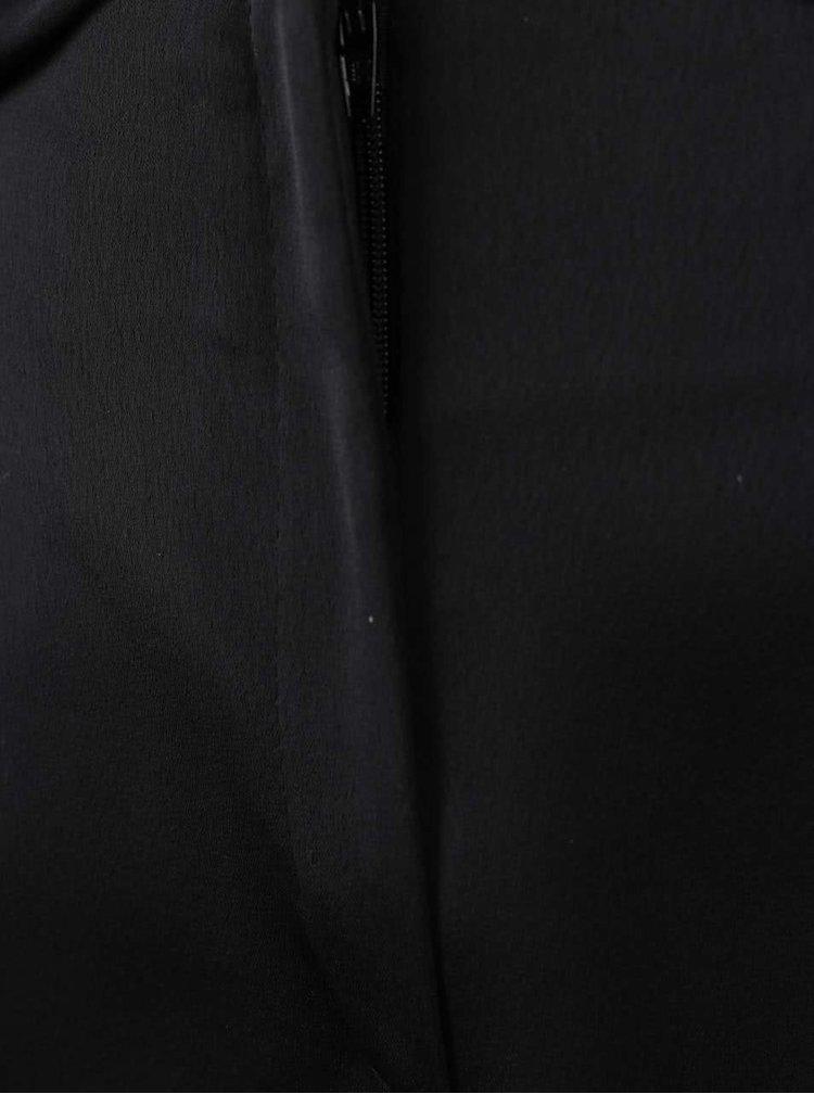 Černé volné zkrácené kalhoty se zavazováním v pase Dorothy Perkins