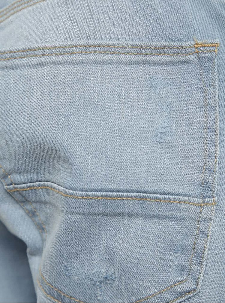 Blugi albastru deschis Burton Menswear London cu aspect ușor deteriorat
