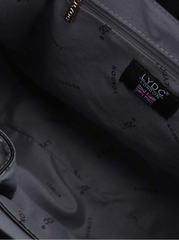 Černá velká kabelka do ruky LYDC