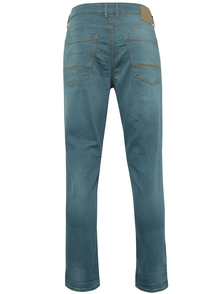 Zelené stretch skinny džíny Burton Menswear London