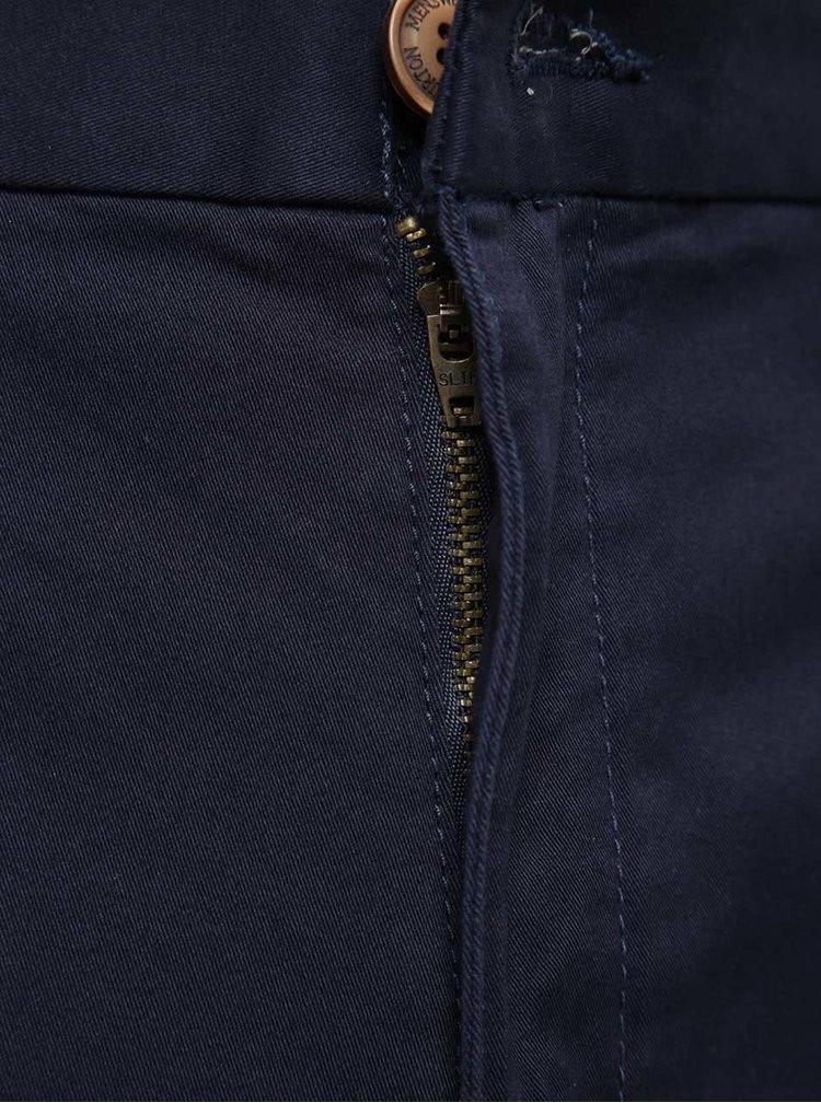 Tmavě modré chino kraťasy Burton Menswear London