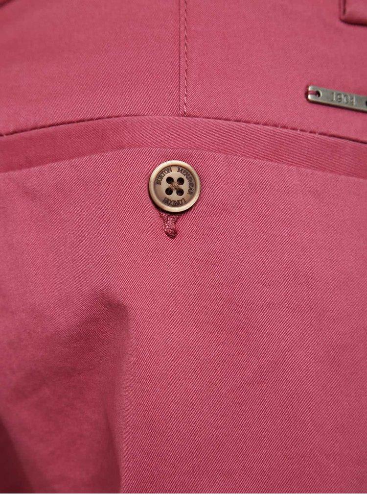 Červené chino kraťasy Burton Menswear London