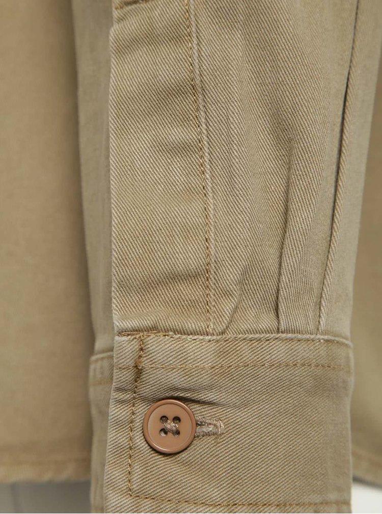 Béžová džínová košile Burton Menswear London