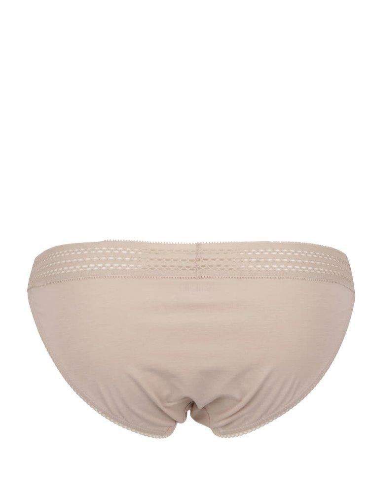Béžové kalhotky s ozdobným lemem DKNY