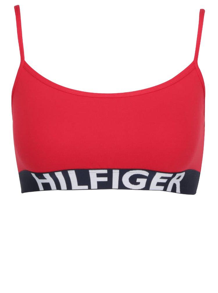 Červená sportovní podprsenka Tommy Hilfiger