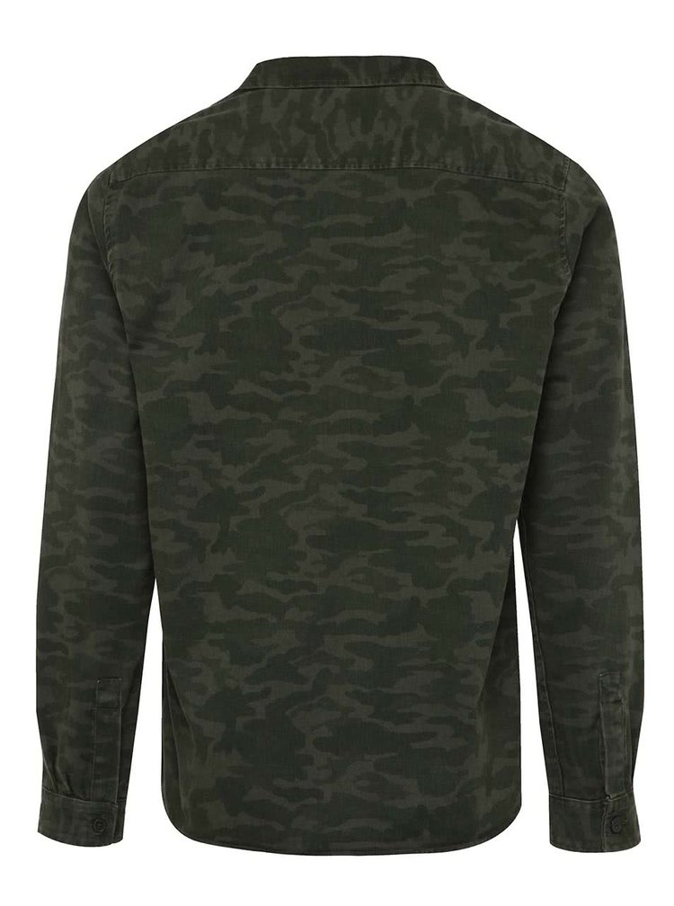 Cămașă verde Burton Menswear London cu model camuflaj