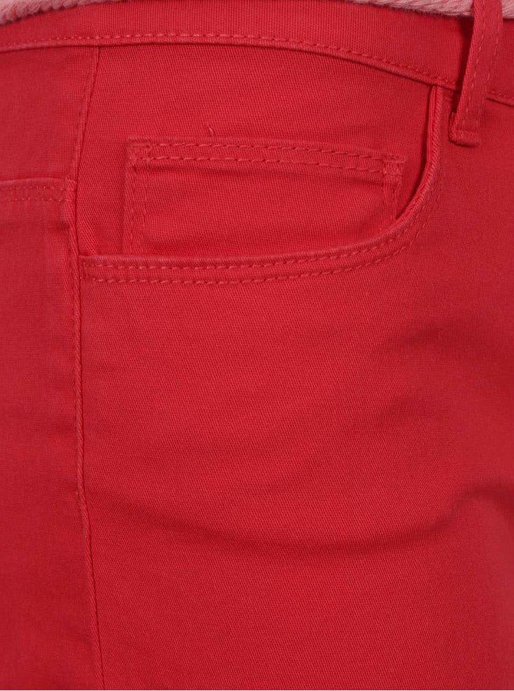 Červené kraťasy ONLY Claudia