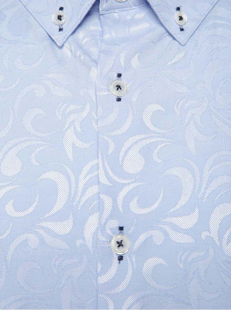 Camasa albastru deschis Burton Menswear London cu model paisley