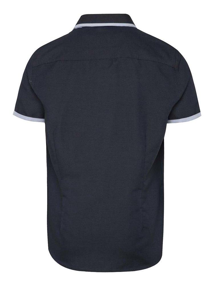 Cămașă bleumarin Burton Menswear London cu model pepit