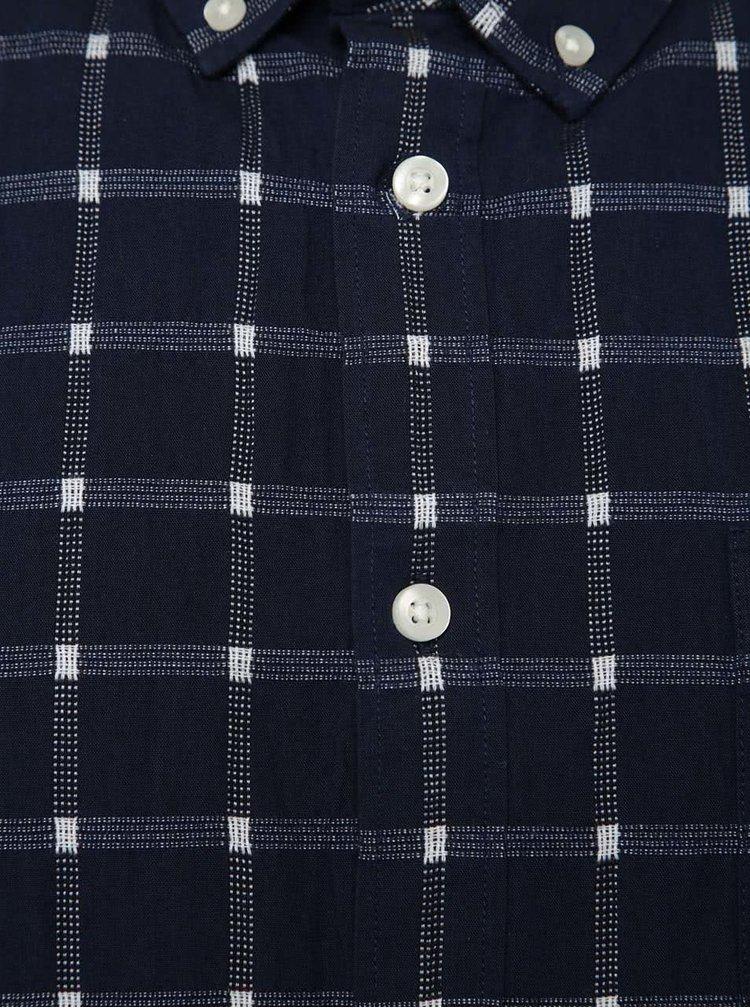 Cămașă bleumarin Burton Menswear London cu model în carouri