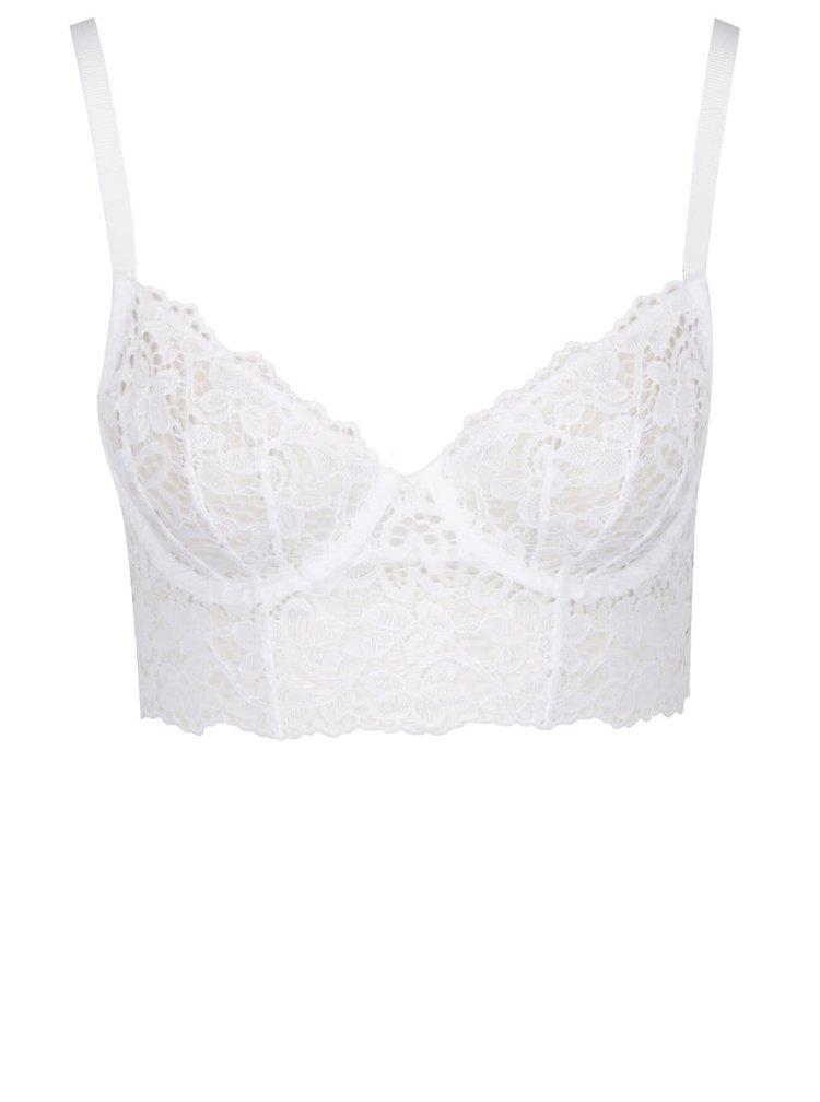 Bílá krajková podprsenka DKNY