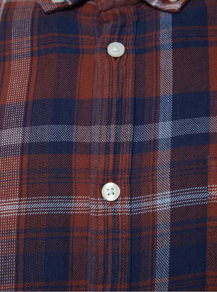 Cămașă maro Burton Menswear London cu model în carouri