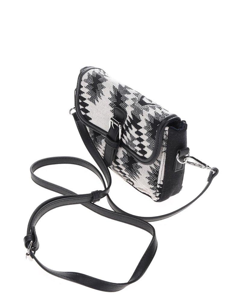 Černo-krémová crossbody kabelka Pieces Simone