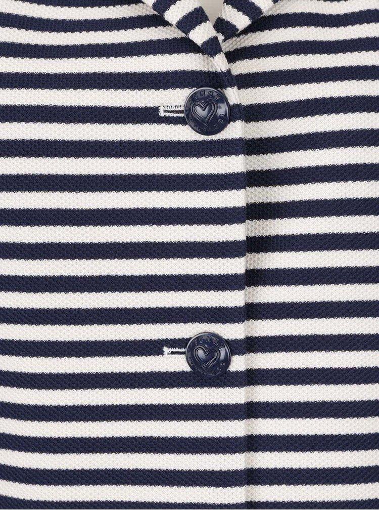 Modro-krémové dámské pruhované sako Tommy Hilfiger