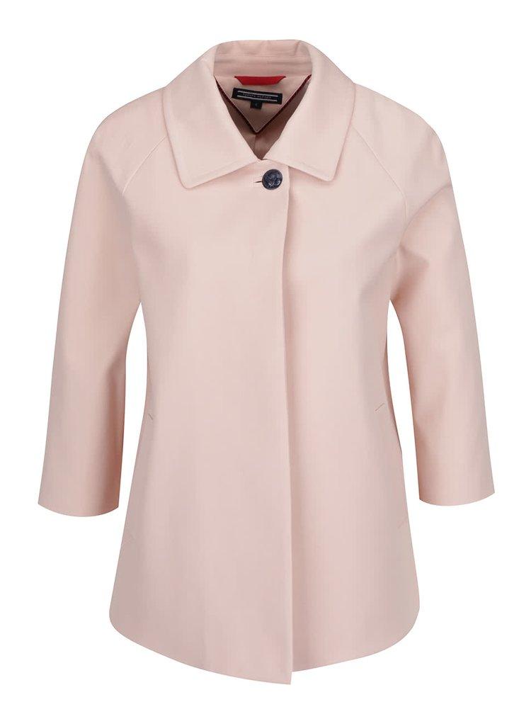 Světle růžový krátký lehký dámský kabát Tommy Hilfiger