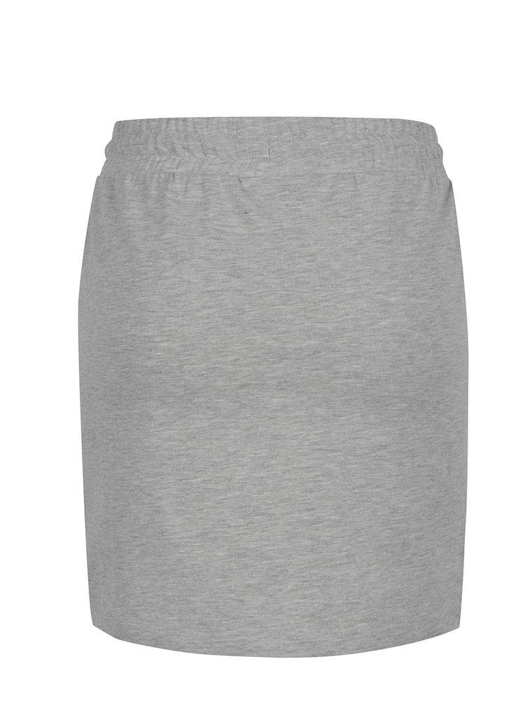 Světle šedá žíhaná tepláková sukně ONLY Petra
