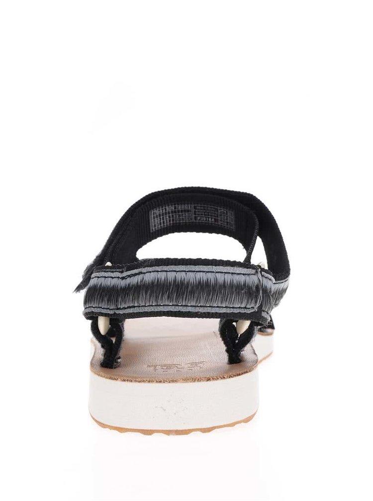 Šedo-černé žíhané dámské sandály Teva