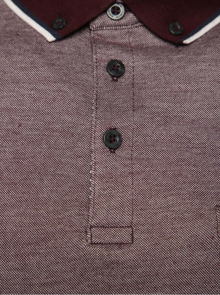 Tricou polo rosu burgundy Burton Menswear London