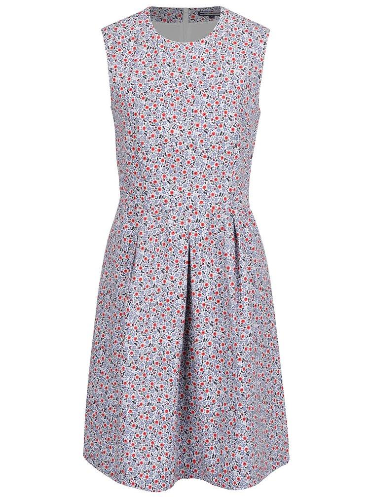 Modré květované šaty Tommy Hilfiger