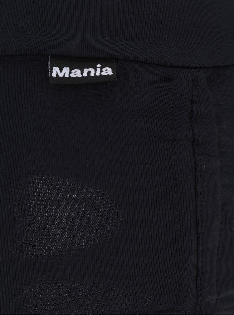 Černé sportovní kraťasy s černou síťkou Mania fitness wear Ice skater