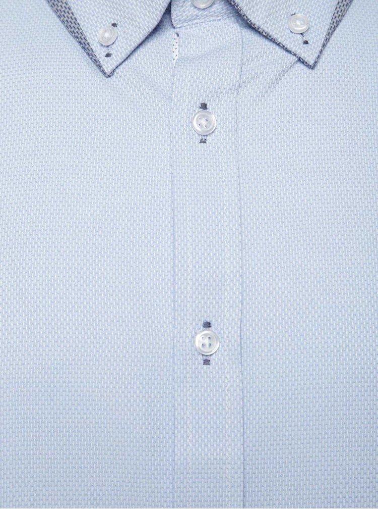Camasa albastru deschis Burton Menswear London cu model pepit