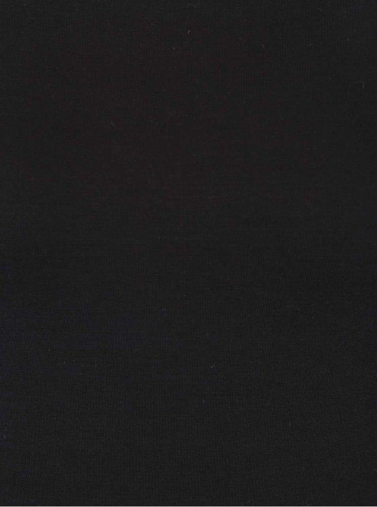 Černé tričko s lodičkovým výstřihem Rich & Royal