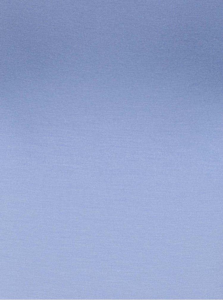 Bluză albastru deschis Rich & Royal cu decolteu bărcuță