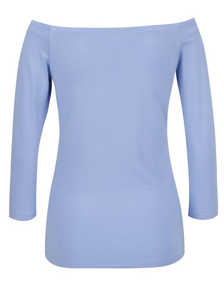 Bluza albastru deschis Rich & Royal cu decolteu barcuta