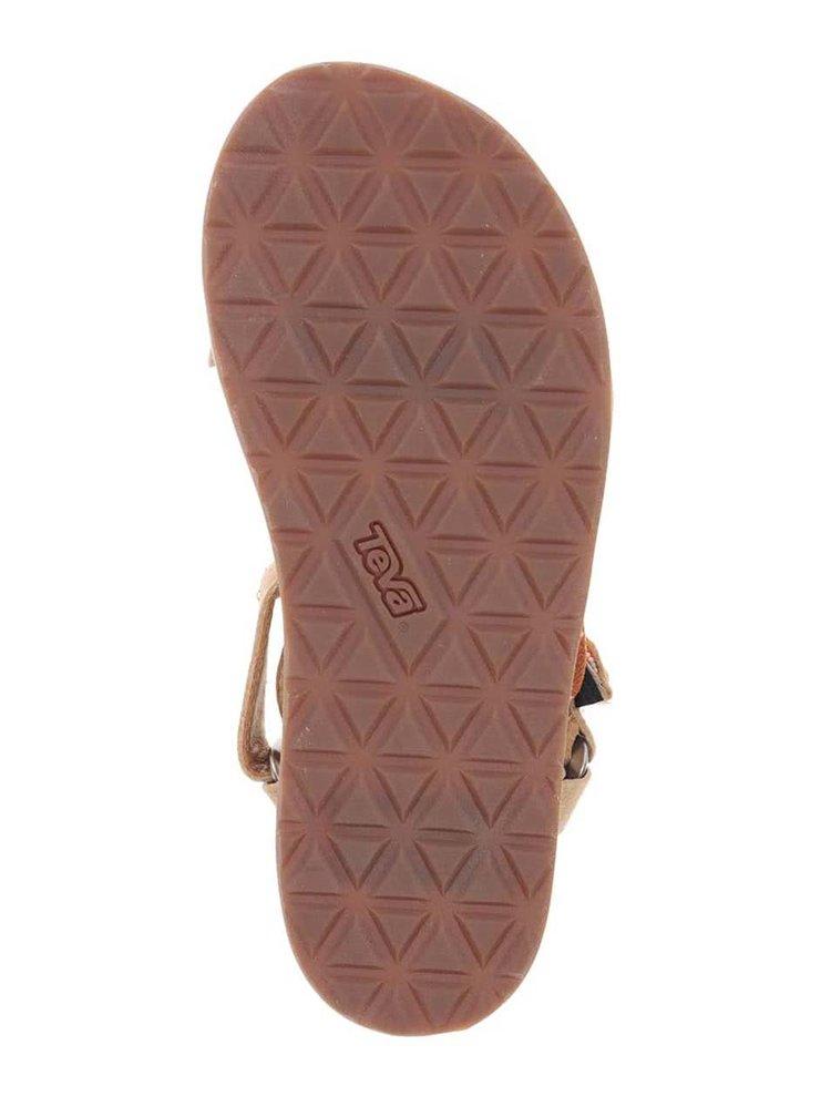 Sandale bej din piele Teva pentru femei