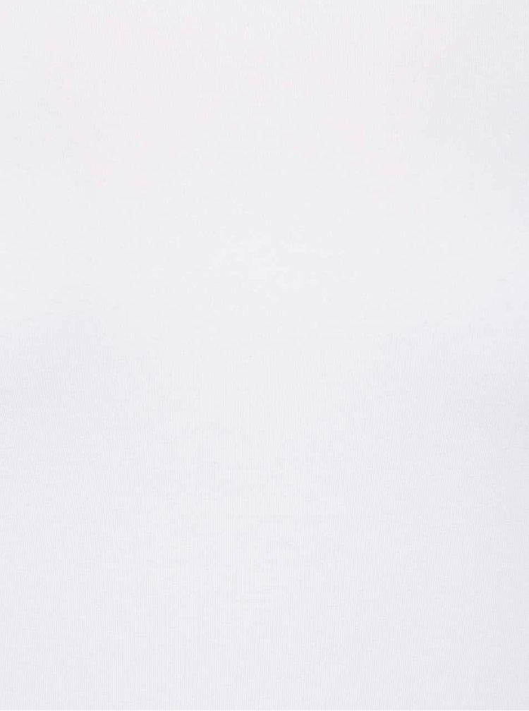 Bílé tričko s lodičkovým výstřihem Rich & Royal