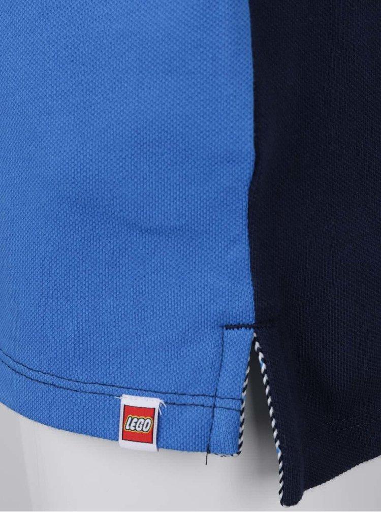 Modré klučičí polo triko s potiskem LEGO Wear Teo