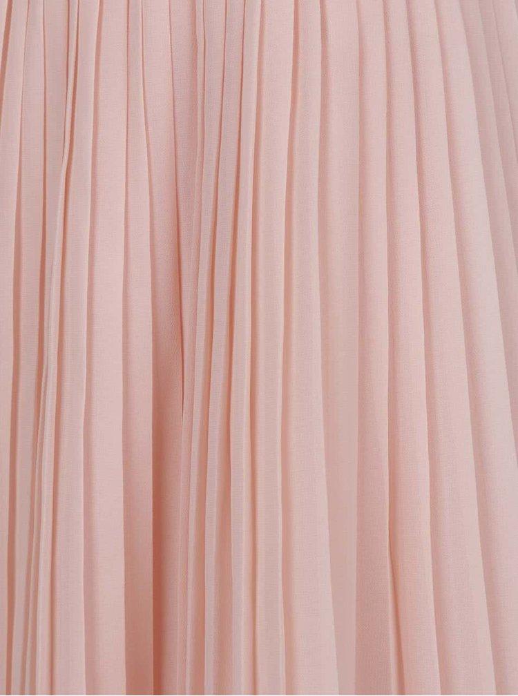Fustă roz pal ONLY Lea cu pliuri