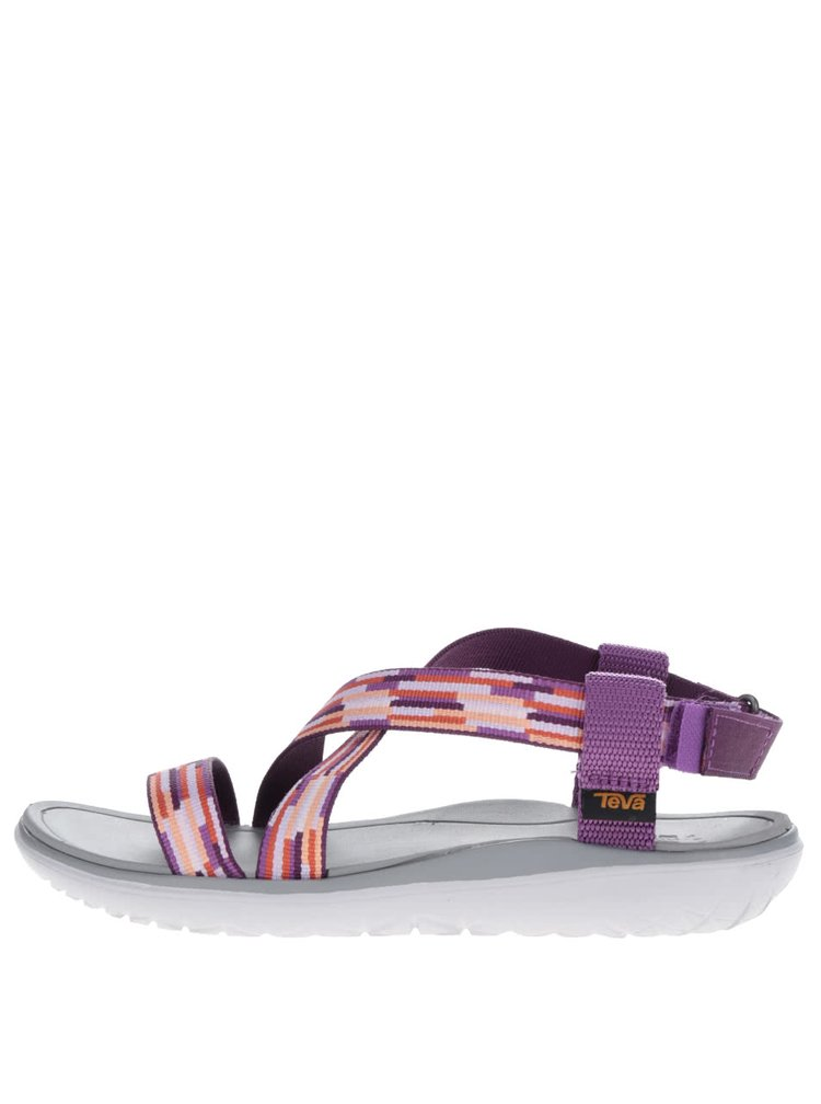 Oranžovo-fialové vzorované dámské sandály Teva