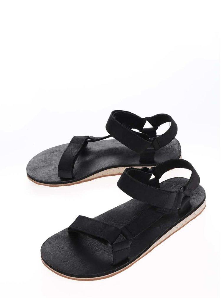 Černé kožené pánské sandály Teva