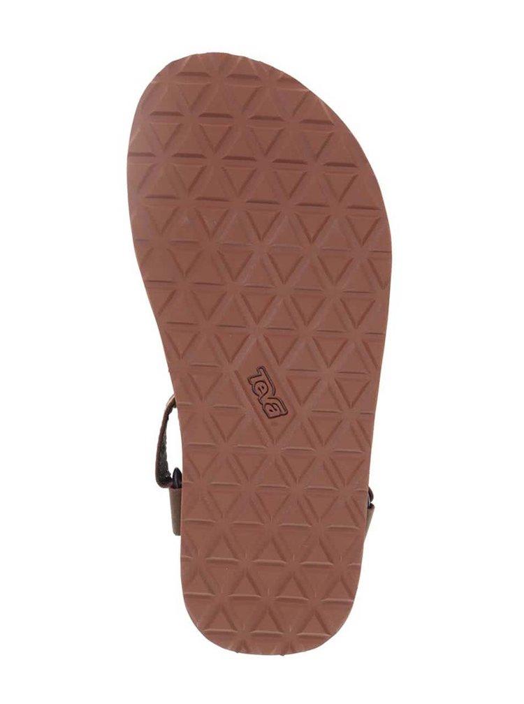 Hnědé kožené pánské sandály Teva