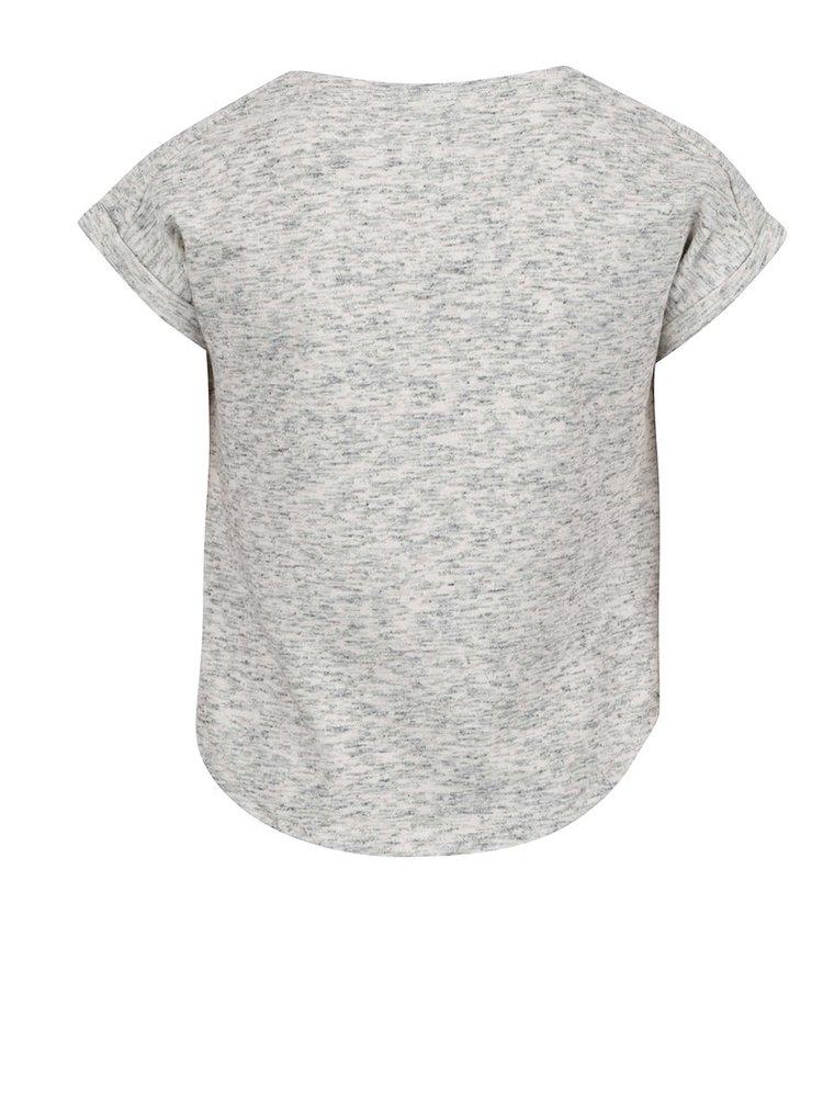 Šedé žíhané holčičí tričko LIMITED by name it Rina