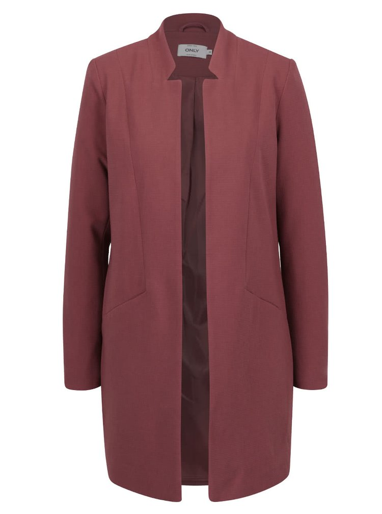 Jacheta lunga roz prafuit ONLY Lina subtire