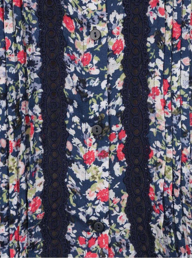 Cămașă albastru închis ONLY Naya cu imprimeu floral