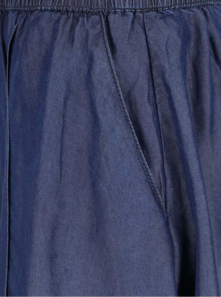 Tmavě modrá sukně s kapsami VILA Sinea