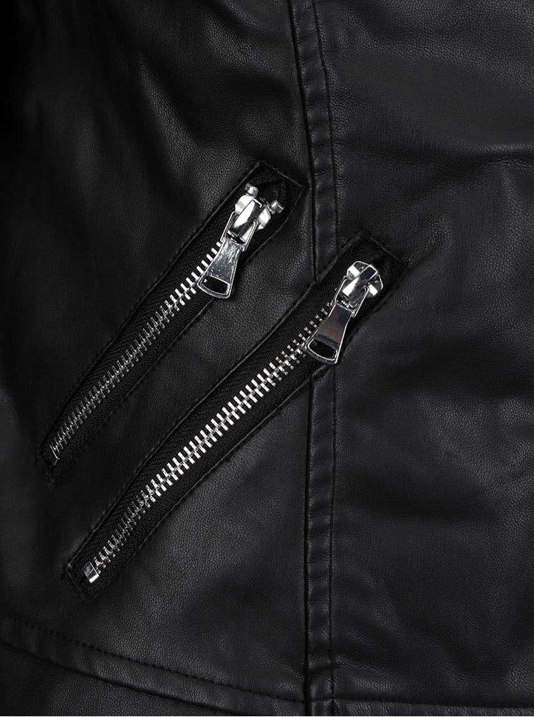 Černý koženkový křivák Haily´s Rockie