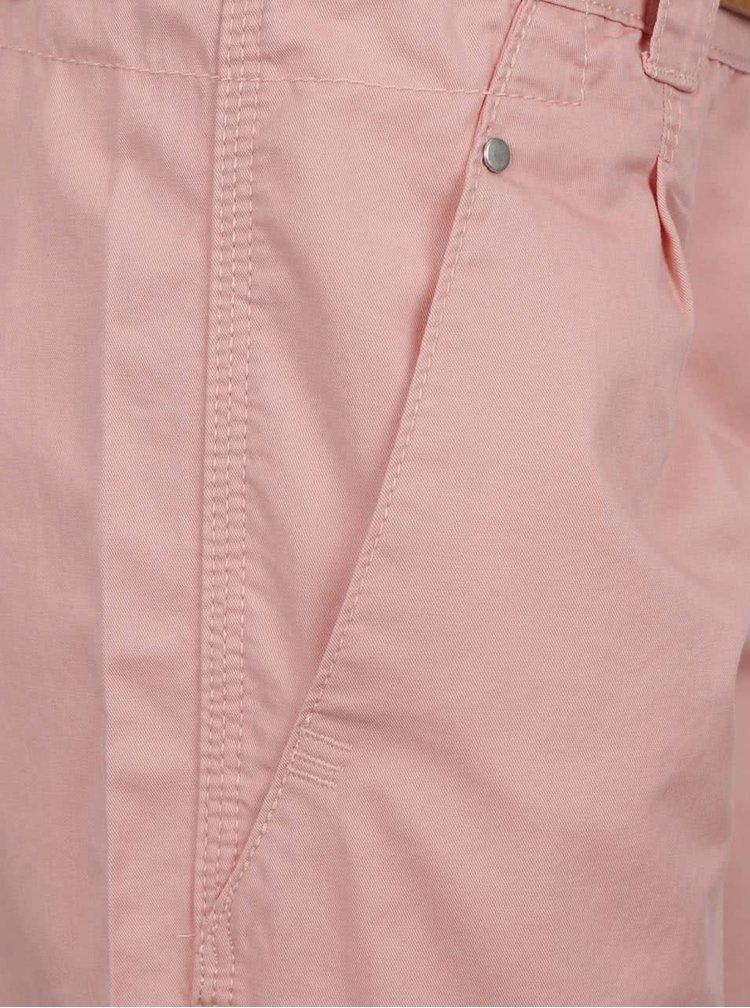Růžové chino kraťasy s páskem VERO MODA Boni