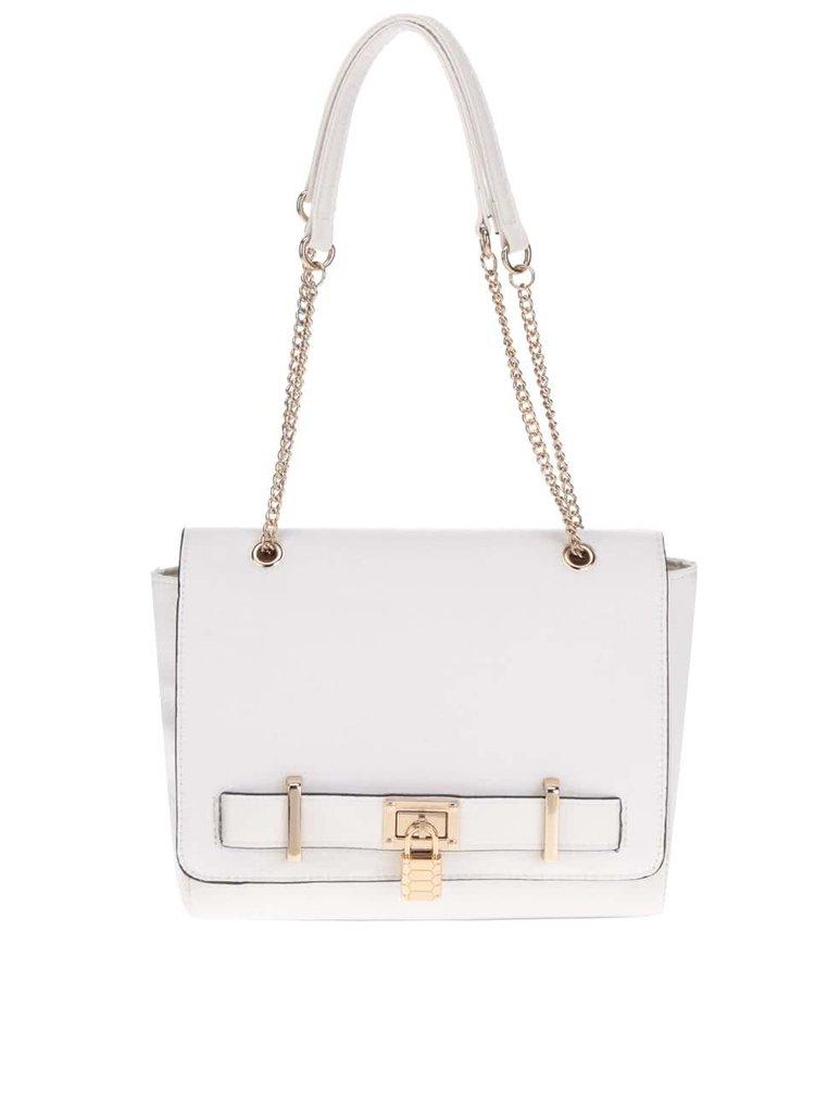 Krémová kabelka s detaily ve zlaté barvě Love Juno
