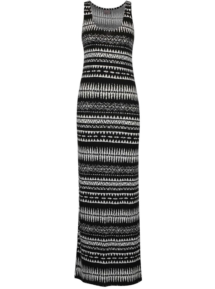 Rochie lungă cu print negru & alb VERO MODA Mussi