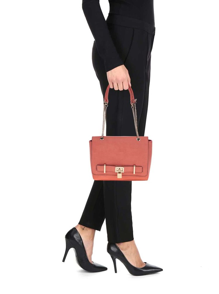 Červená kabelka s detaily ve zlaté barvě Love Juno