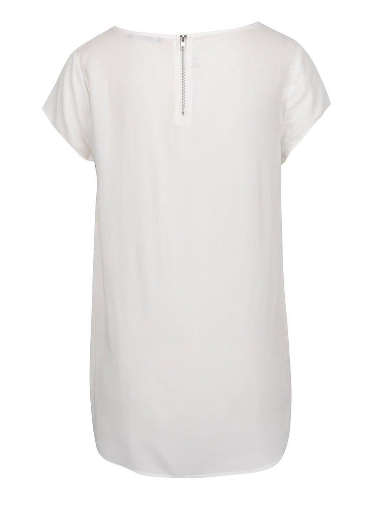 Tricou alb Haily´s Liane cu fermoar pe spate