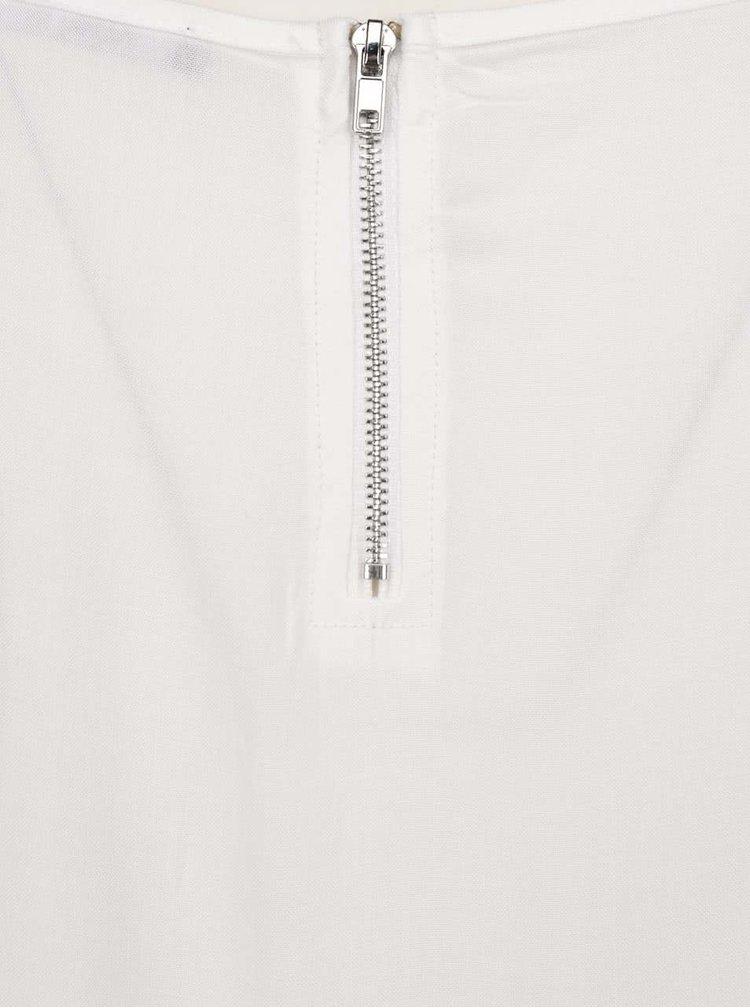 Bílý volný top s krátkým rukávem Haily´s Liane